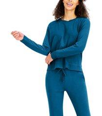 alfani ultra-soft crew neck pajama top, created for macy's