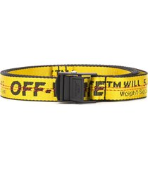 off-white mini industrial belt - yellow