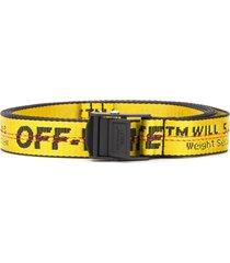 off-white mini industrial belt - yellow