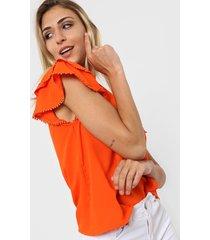 blusa naranja nano pia