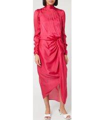 zimmermann women's drape long sleeve dress - magenta - 1/uk 10