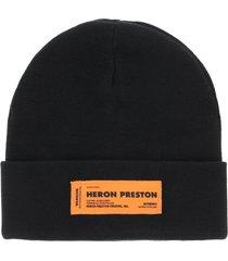 heron preston beanie with logo