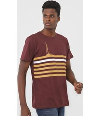 camiseta yachtsman listrada vinho