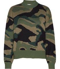 camo sweater st gebreide trui groen iben
