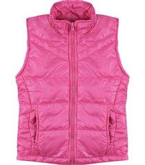 colete com manta acrílica ser garota pink