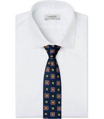 cravatta su misura, lanieri, contrasto blu, quattro stagioni | lanieri