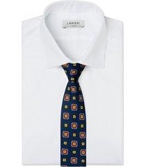 cravatta su misura, lanieri, contrasto blu, quattro stagioni