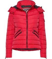 luxe quilt padded jacket fodrad jacka röd superdry