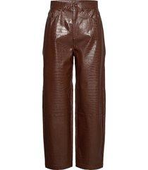 myla trousers 13102 leather leggings/broek bruin samsøe samsøe