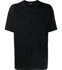 ann demeulemeester oversized destroyed t-shirt - black
