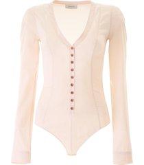 lemaire silk bodysuit shirt