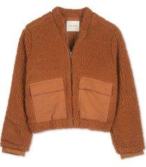 lucky brand utility teddy jacket