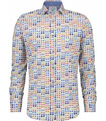 a fish named fred overhemd hippie bril print slim fit