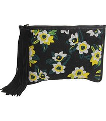 abigail floral beaded clutch