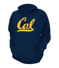 retro brand california golden bears men's screenprint big logo hooded sweatshirt
