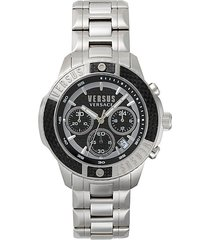 admirality stainless steel bracelet chronograph watch