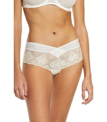 women's chantelle lingerie champs-elysees hipster panties, size x-large - ivory
