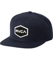 rvca commonwealth snapback baseball cap in black/white at nordstrom