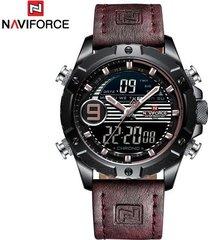 reloj deportivo para hombre reloj de pulsera de cuarzo digital para hombre relojes de pulsera impermeables de cuero de moda masculina