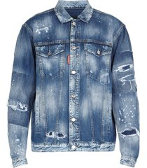 dsquared2 over jeans jacket