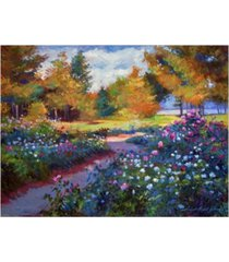 "david lloyd glover a garden on the hudson canvas art - 15"" x 20"""