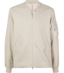 saturdays nyc zip-through slub bomber jacket - neutrals