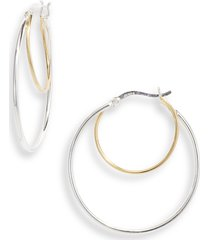 argento vivo sterling silver double ring hoop earrings in two tone at nordstrom