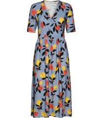 calia print wrap dress knälång klänning multi/mönstrad modström