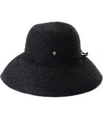 helen kaminski 'provence 12' packable raffia hat in charcoal at nordstrom