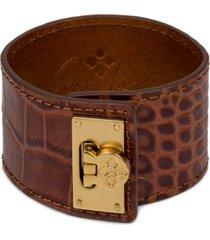 patricia nash gold-tone leather cuff bracelet