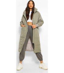 tall lange gewatteerde jas, grey
