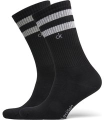 ck men crew 2p stripes casual mauri underwear socks regular socks svart calvin klein