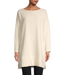 eileen fisher women's boatneck tunic - undyed natural - size xl