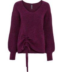 maglione con arricciatura (viola) - rainbow