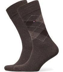 th men sock check 2p underwear socks regular socks brun tommy hilfiger