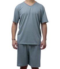 conjunto de pijama curto touro boots masculino cinza - kanui