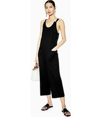 knot strap jumpsuit - black