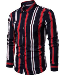 moda uomo hit color a maniche lunghe a maniche lunghe sottile vestibilità camicia