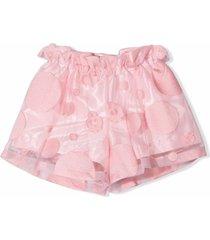 simonetta pink tulle shorts
