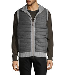 wool cashmere quilted vest