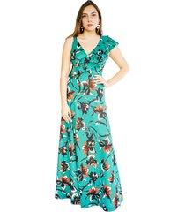 vestido julianna verde flores natalia seguel