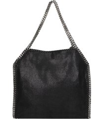 stella mccartney falabella small tote black polyester bag