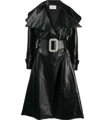 giuseppe di morabito belted flared coat - black