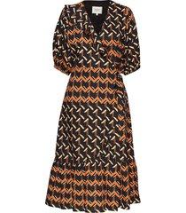 river ss midi dress knälång klänning multi/mönstrad second female