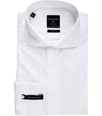profuomo shirt slim fit wit uni mouwlengte 7