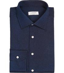 camicia da uomo su misura, canclini, jeans blu, quattro stagioni | lanieri
