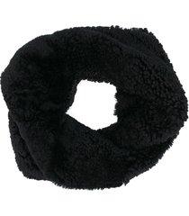 marni shearling shrug - black