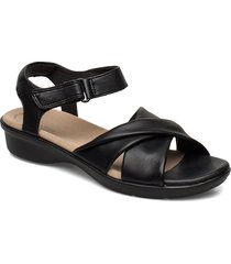 loomis chloe shoes summer shoes flat sandals svart clarks