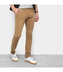calça sarja skinny replay chino color masculina
