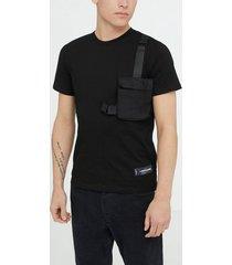 sixth june add on pocket shirt t-shirts & linnen black